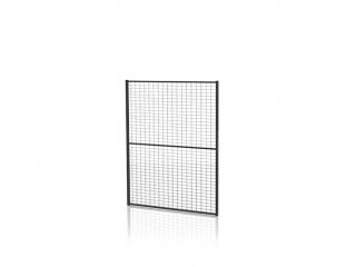 Tvoros segmentas su tvirtinimo detal. (Tinklo akutė 30x50mm, H=1300 W=1500mm, RAL9011)
