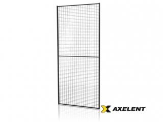 Tvoros segmentas su tvirtinimo detal. (Tinklo akutė 30x50mm, H=2200 W=1200mm, RAL9011)